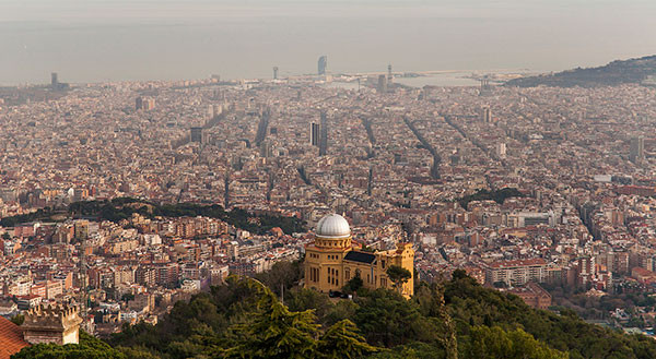 Appreciating Barcelona from Tibidabo